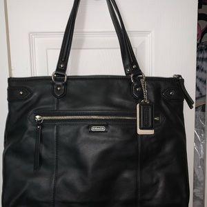 Coach Black Leather F23973 Tote Bag NWT Handbag